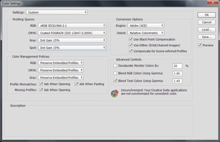 Color Management Adobe PhotoShop