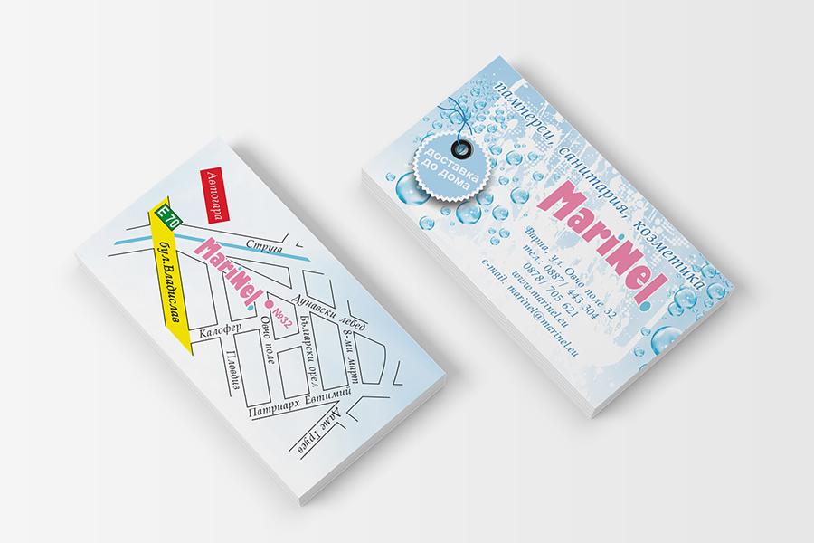 Buziness card StudioDES Marinel