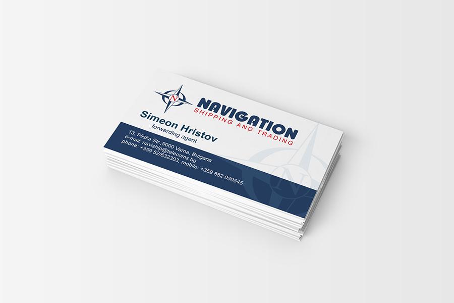 Buziness card StudioDES Navigation