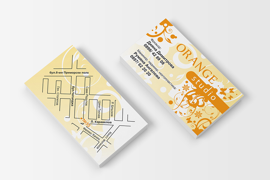 Buziness card StudioDES Orange studio