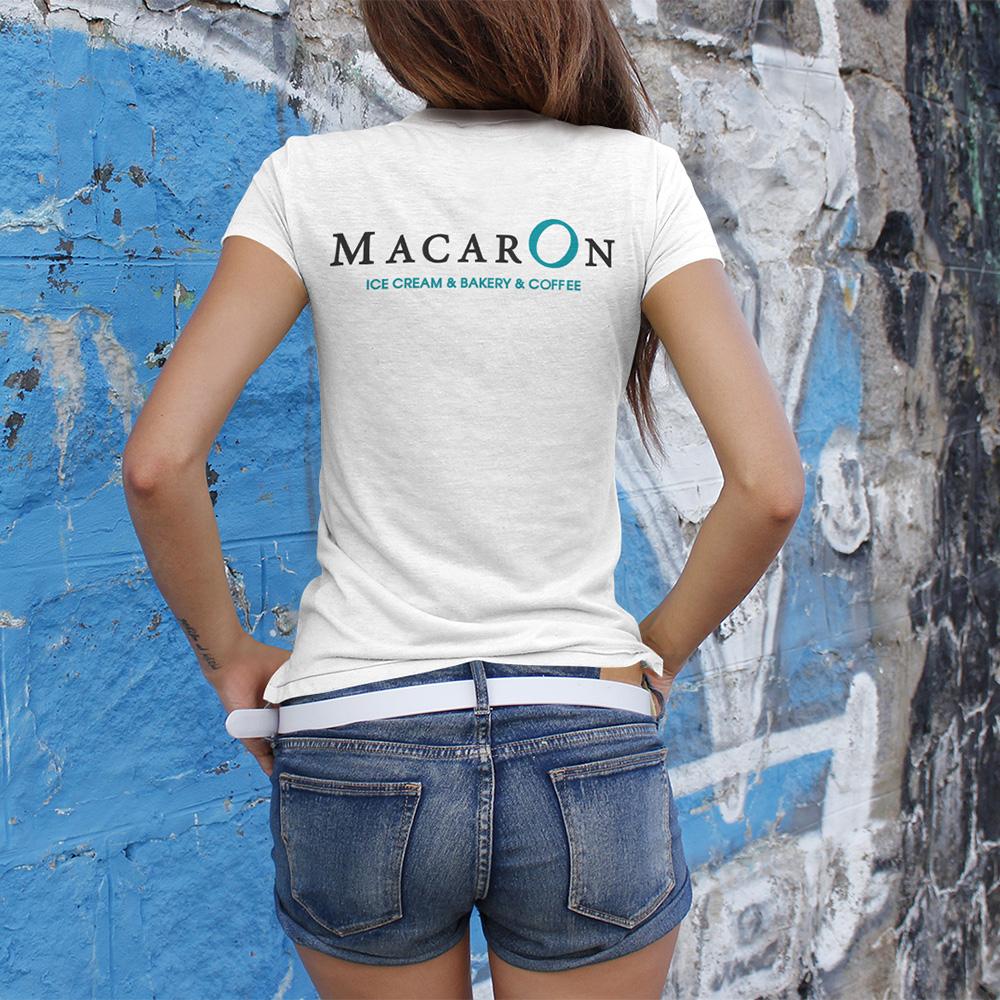 Студио ДЕС печат върху текстил - Тениска Macaron гръб