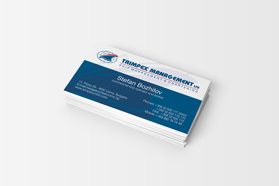 Buziness card StudioDES Trimpex Management